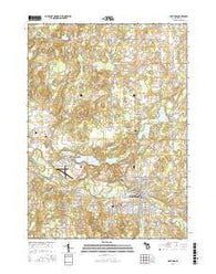 Hastings Michigan Current topographic map, 1:24000 scale, 7.5 X 7.5 Minute, Year 2016