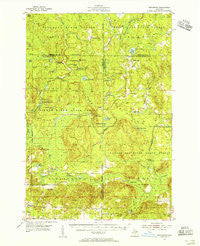 Hetherton Michigan Historical topographic map, 1:62500 scale, 15 X 15 Minute, Year 1954