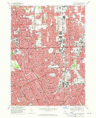Highland Park Michigan Historical topographic map, 1:24000 scale, 7.5 X 7.5 Minute, Year 1968