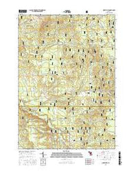 Hoxeyville Michigan Current topographic map, 1:24000 scale, 7.5 X 7.5 Minute, Year 2016