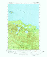 Huron Mountain Michigan Historical topographic map, 1:62500 scale, 15 X 15 Minute, Year 1954