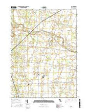 Ida Michigan Current topographic map, 1:24000 scale, 7.5 X 7.5 Minute, Year 2016 from Michigan Maps Store