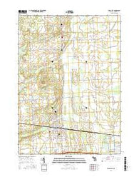 Imlay City Michigan Current topographic map, 1:24000 scale, 7.5 X 7.5 Minute, Year 2016