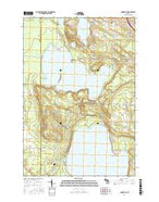 Indianville Michigan Current topographic map, 1:24000 scale, 7.5 X 7.5 Minute, Year 2017 from Michigan Map Store