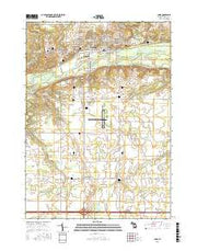 Ionia Michigan Current topographic map, 1:24000 scale, 7.5 X 7.5 Minute, Year 2016 from Michigan Maps Store