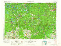 Iron Mountain Michigan Historical topographic map, 1:250000 scale, 1 X 2 Degree, Year 1954