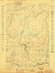 Iron River Michigan Historical topographic map, 1:62500 scale, 15 X 15 Minute, Year 1898