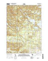 Jennings Michigan Current topographic map, 1:24000 scale, 7.5 X 7.5 Minute, Year 2016