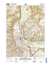 Kalamazoo Michigan Current topographic map, 1:24000 scale, 7.5 X 7.5 Minute, Year 2016 from Michigan Maps Store