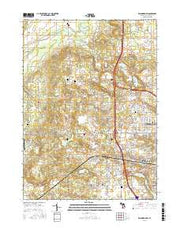 Kalamazoo SW Michigan Current topographic map, 1:24000 scale, 7.5 X 7.5 Minute, Year 2016 from Michigan Maps Store