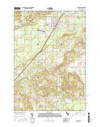 Kalkaska Michigan Current topographic map, 1:24000 scale, 7.5 X 7.5 Minute, Year 2016