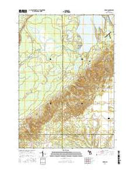 Karlin Michigan Current topographic map, 1:24000 scale, 7.5 X 7.5 Minute, Year 2016