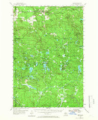 Kenton Michigan Historical topographic map, 1:62500 scale, 15 X 15 Minute, Year 1954