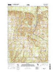 Kingsley Michigan Current topographic map, 1:24000 scale, 7.5 X 7.5 Minute, Year 2016