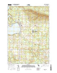 Lake City Michigan Current topographic map, 1:24000 scale, 7.5 X 7.5 Minute, Year 2016