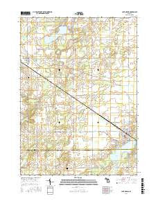 Lake Odessa Michigan Current topographic map, 1:24000 scale, 7.5 X 7.5 Minute, Year 2016