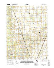 Lambertville East Michigan Current topographic map, 1:24000 scale, 7.5 X 7.5 Minute, Year 2016 from Michigan Maps Store