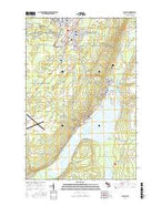 Laurium Michigan Current topographic map, 1:24000 scale, 7.5 X 7.5 Minute, Year 2017 from Michigan Map Store