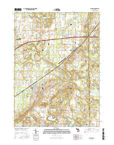 Lawton Michigan Current topographic map, 1:24000 scale, 7.5 X 7.5 Minute, Year 2016