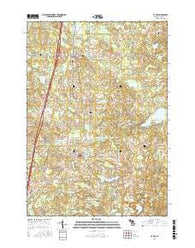Le Roy Michigan Current topographic map, 1:24000 scale, 7.5 X 7.5 Minute, Year 2016