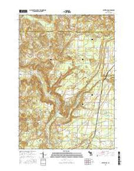 Leetsville Michigan Current topographic map, 1:24000 scale, 7.5 X 7.5 Minute, Year 2016