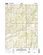 Leonidas Michigan Current topographic map, 1:24000 scale, 7.5 X 7.5 Minute, Year 2016 from Michigan Maps Store