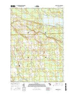 Long Lake West Michigan Current topographic map, 1:24000 scale, 7.5 X 7.5 Minute, Year 2016 from Michigan Map Store