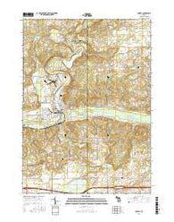 Lowell Michigan Current topographic map, 1:24000 scale, 7.5 X 7.5 Minute, Year 2016