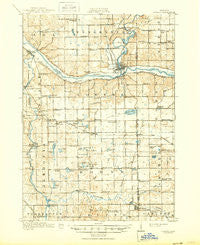 Lowell Michigan Historical topographic map, 1:62500 scale, 15 X 15 Minute, Year 1918