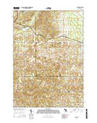 Lucas Michigan Current topographic map, 1:24000 scale, 7.5 X 7.5 Minute, Year 2016