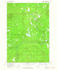 Luzerne NW Michigan Historical topographic map, 1:24000 scale, 7.5 X 7.5 Minute, Year 1963