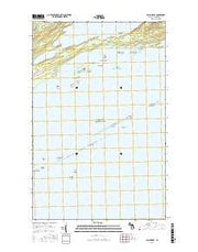 Malone Bay Michigan Current topographic map, 1:24000 scale, 7.5 X 7.5 Minute, Year 2017 from Michigan Maps Store