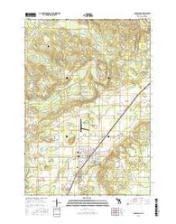 Mancelona Michigan Current topographic map, 1:24000 scale, 7.5 X 7.5 Minute, Year 2016