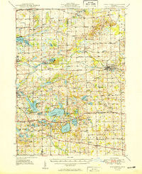 Manchester Michigan Historical topographic map, 1:62500 scale, 15 X 15 Minute, Year 1949