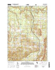 Manton Michigan Current topographic map, 1:24000 scale, 7.5 X 7.5 Minute, Year 2016