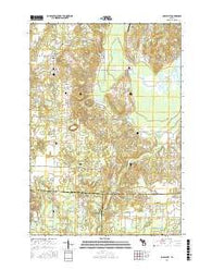 Maple City Michigan Current topographic map, 1:24000 scale, 7.5 X 7.5 Minute, Year 2016