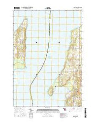 Mapleton Michigan Current topographic map, 1:24000 scale, 7.5 X 7.5 Minute, Year 2016