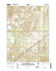 Marcellus Michigan Current topographic map, 1:24000 scale, 7.5 X 7.5 Minute, Year 2016