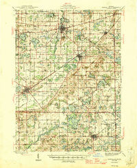 Marcellus Michigan Historical topographic map, 1:62500 scale, 15 X 15 Minute, Year 1946