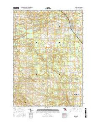 Marion Michigan Current topographic map, 1:24000 scale, 7.5 X 7.5 Minute, Year 2016