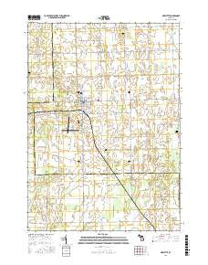 Marlette Michigan Current topographic map, 1:24000 scale, 7.5 X 7.5 Minute, Year 2016