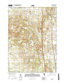 Martin Michigan Current topographic map, 1:24000 scale, 7.5 X 7.5 Minute, Year 2016