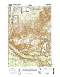 Mayfield Michigan Current topographic map, 1:24000 scale, 7.5 X 7.5 Minute, Year 2016