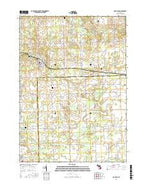 Mayville Michigan Current topographic map, 1:24000 scale, 7.5 X 7.5 Minute, Year 2016 from Michigan Map Store