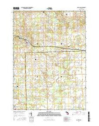 Mayville Michigan Current topographic map, 1:24000 scale, 7.5 X 7.5 Minute, Year 2016