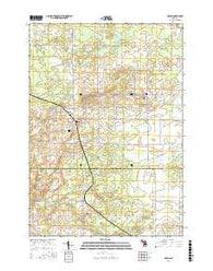 McBain Michigan Current topographic map, 1:24000 scale, 7.5 X 7.5 Minute, Year 2016