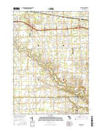 Memphis Michigan Current topographic map, 1:24000 scale, 7.5 X 7.5 Minute, Year 2017 from Michigan Map Store