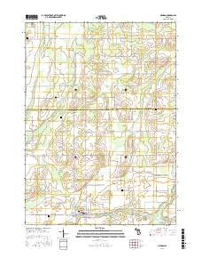 Mendon Michigan Current topographic map, 1:24000 scale, 7.5 X 7.5 Minute, Year 2016