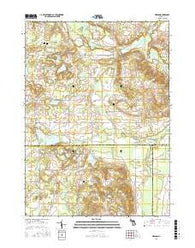 Merson Michigan Current topographic map, 1:24000 scale, 7.5 X 7.5 Minute, Year 2016