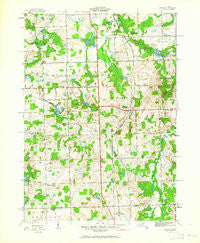 Metamora Michigan Historical topographic map, 1:24000 scale, 7.5 X 7.5 Minute, Year 1943